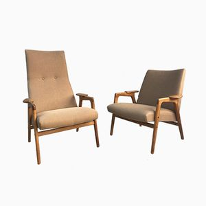 Vintage Ruster Chairs by Yngve Ekstrom for Swedese & ESE Möbler, Set of 2