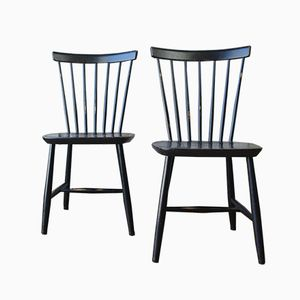 Model R9 Chairs by Sven Erik Fryklund for Hagafors, 1960s, Set of 2