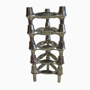 Porte-Bougies Modulables par Fritz Nagel pour BMF, 1960s, Set de 6