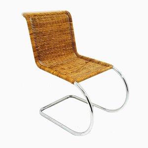 Sedia MR10 in rattan di Mies van der Rohe per Knoll, anni '70