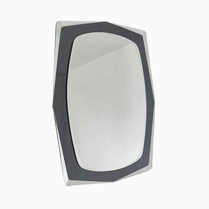 Vintage Silver-Colored Wall Mirror