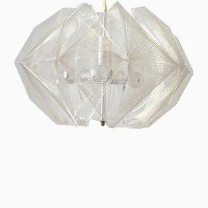 Lampadario grande di Paul Secon per Sompex, anni '60