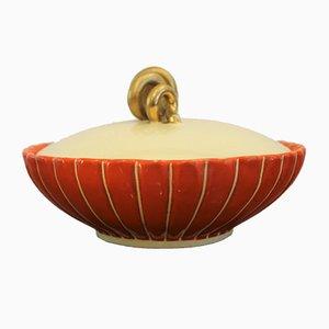 Scatola vintage in ceramica di Rometti