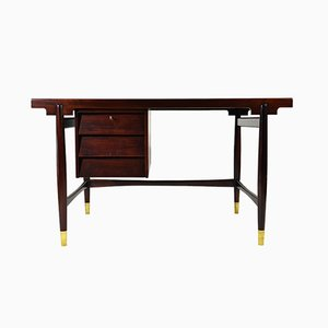 Rosewood Desk by Silvio Cavatorta, 1950s