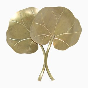 Water Lilly Brass Sconce, 1970s