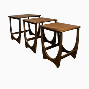 Mid-Century Teak Nesting Coffee Tables from G-Plan, Set of 3