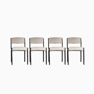 Mid-Century Esszimmerstühle aus Palisander, 4er Set