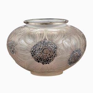 Vaso vintage con dalie di René Lalique