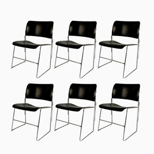 Vintage Model 40/4 Chairs by David Rowland for General Fireproofing, Set of 6