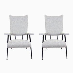 French High Backs Armchairs, 1960s, Set of 2