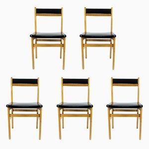 Esszimmerstühle von Mocholi, 1960er, 5er Set