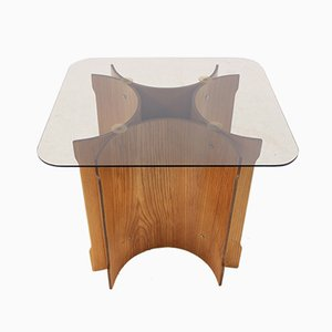 Scandinavian Bentwood Veneer Table, 1970s