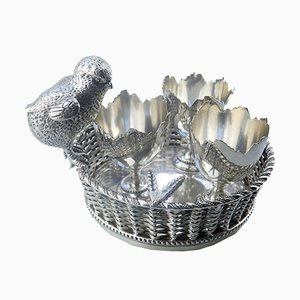 Antique Silver Plated Egg Stand from Mappin & Webb