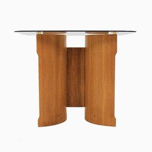 Skandinavischer Bugholz Furnier Tisch, 1970er