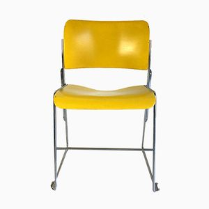 Vintage Yellow 40/4 Chair by David Rowland for General Fireproofing