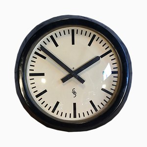 Large Industrial Factory Wall Clock from Siemens, 1950s