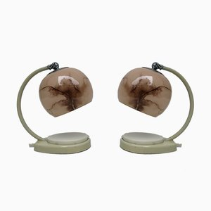 Bedside Lamps by Marianne Brandt for GMF, 1930s, Set of 2