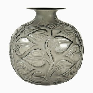 Vaso Sophora vintage grigio di René Lalique