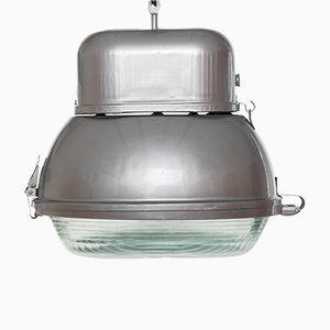 Lámpara colgante UORP-250 plateada de Predom Mesko, años 60