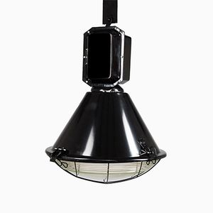 Lampada industriale nera di Predom Mesko, anni '60