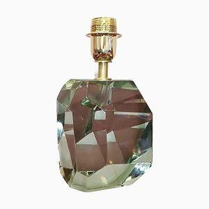 Lampada da tavolo vintage in cristallo verde sfaccettato di Barovier & Toso