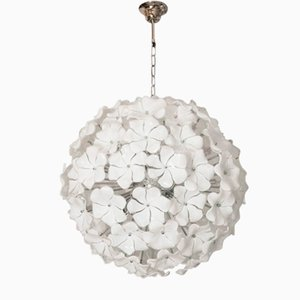 Vintage Murano Glass Floral Ceiling Lamp