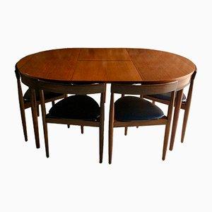 Mesa de comedor Mid-Century y seis sillas de Hans Olsen para Frem Rojle D