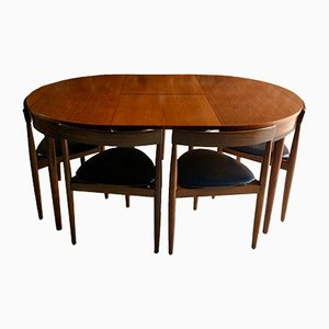Table de Salle à Manger Mid-Century & 6 Chaises par Hans Olsen pour Frem Rojle D