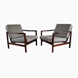 Lounge Armchairs by Zenon Bączyk for Swarzędzkie Fabryki Mebli, 1960s, Set of 2