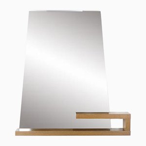 Vintage Mirror with Integrated Console