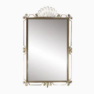 Vintage Brass Mirror Rectangular Mirror