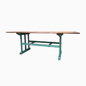 Table Console Industrielle en Bois, 1970s