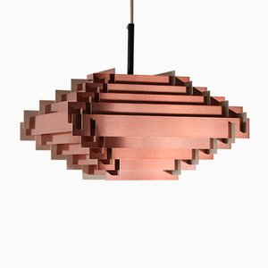 Vintage Copper Pendant Light by Hans Agne Jakobsen, 1970s