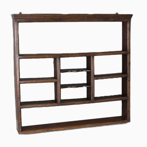 Antique Oak Plate Rack