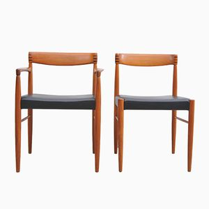 Vintage Teak Dining Chairs by H. W. Klein for Bramin, Set of 5