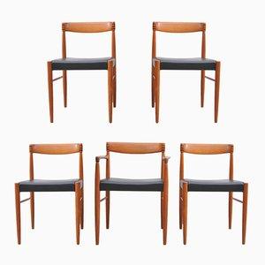 Chaises de Salle à Manger Vintage en Teck par H. W. Klein pour Bramin, Set de 5