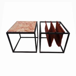 Portariviste Domino con tavolo di Jorge Zalszupin