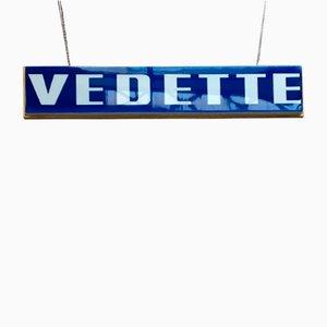 Enseigne Vedette Double Face Vintage