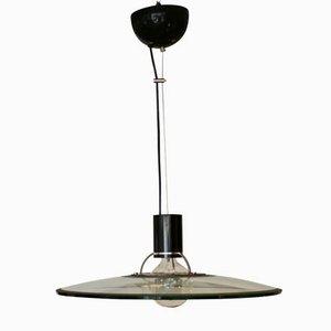 Lámpara colgante de vidrio, años 70
