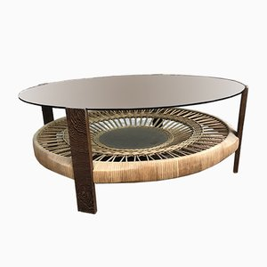 Rattan Coffee Table, 1980s