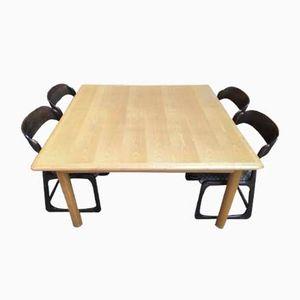Tavolo in frassino di Tobia e Afra Scarpa, anni '80
