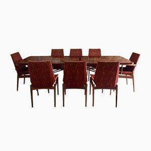 Mesa de comedor Mid-Century de palisandro con 8 sillas de Robert Heritage para Archie Shine