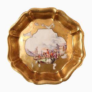 Assiette Antique en Porcelaine Peinte de Meissen, 1720s