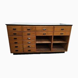 Haberdashery Oak Cabinet, 1950s