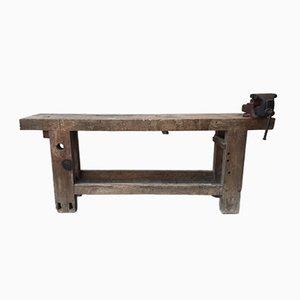 Hölzerner Vintage Arbeitstisch