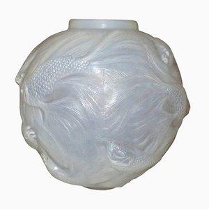 Vintage Formose Vase aus Opalglas von René Lalique