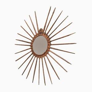 Espejo Sorcière en forma de sol, años 70
