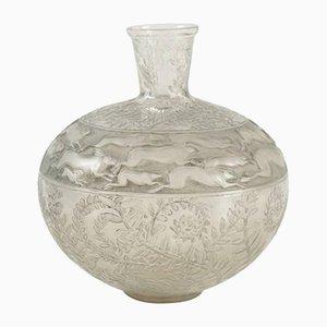 Vintage Lièvres Vase von René Lalique