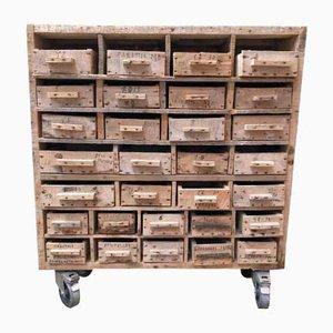 Vintage Belgian Wooden Cabinet