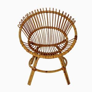 Mid-Century Stuhl aus Rattan, 1960er